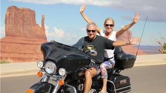 Edi Baumgartner hat ab Dienstag mehr Zeit zum Harleyfahren – zum Beispiel mit Ehefrau Gabrielle im Monument Valley.