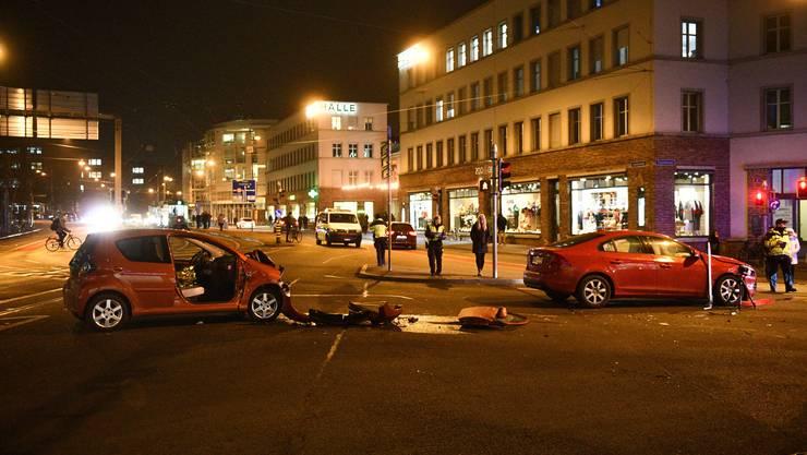 Autounfall Centralbahnstrasse 23.01.2019.