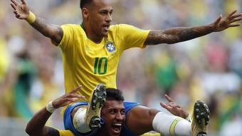 Impressionen zum Gruppenspiel Brasilien - Mexiko