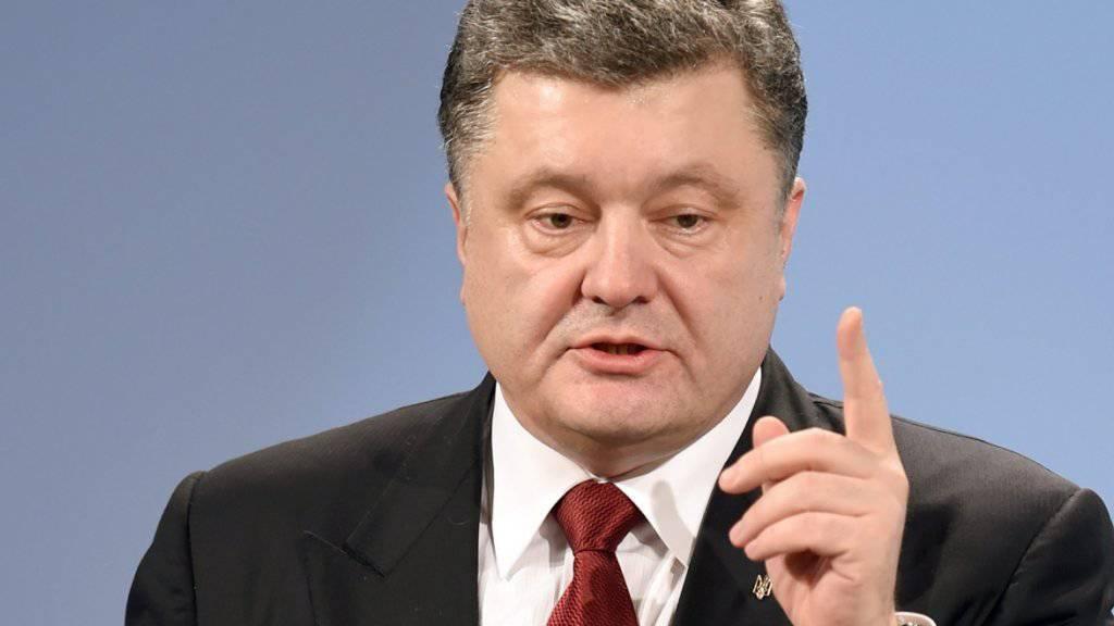 Poroschenko ist Spitzenkandidat