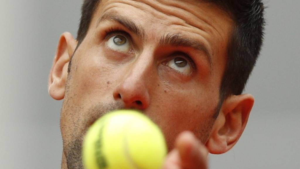 Den Ball perfekt im Fokus: Novak Djokovic geriet am French Open bislang noch nie in Bedrängnis