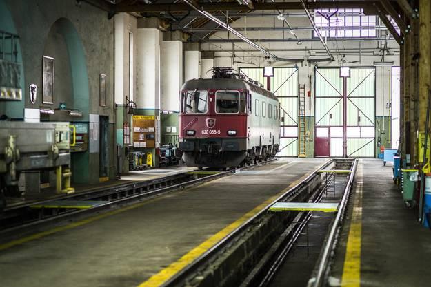 Impressionen aus dem Depot Erstfeld vor der Eröffnung des Testbetriebs im Neat-Basistunnel am Gotthard.