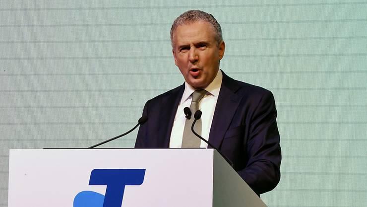 Telstra CEO Andy Penn am Investorentag - 8000 Stellen sollen gestrichen werden.