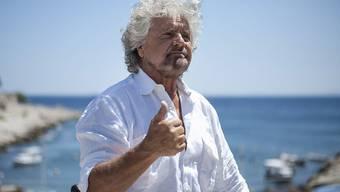 Vergleicht sich mit Mandela: Italiens Populist und Komiker Beppe Grillo (Archivbild)