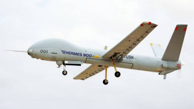Hightech im Anflug: Aufklärungsdrohne Hermes 900.