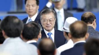 Südkoreas Präsident Moon Jae In hat am Mittwoch während einer Veranstaltung zum Unabhängigkeitstag seines Landes ein Mega-Bahnprojekt zwischen Nord- und Südkorea bekanntgegeben.