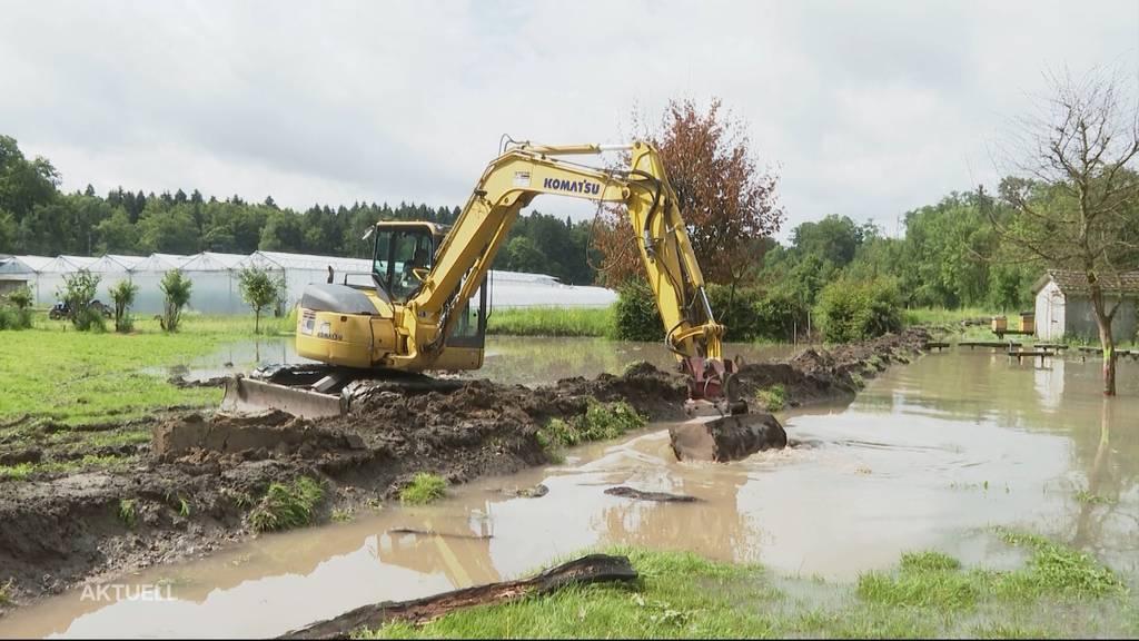 Unwetter im Aargau: Prekäre Situationen an der Reuss