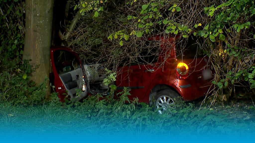 25-jähriger Autofahrer prallt gegen Baum