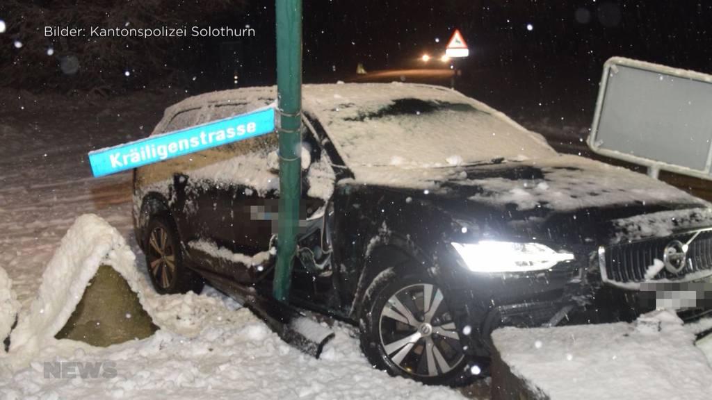 Alle Jahre wieder: Erster Schnee im Flachland sorgt für Chaos