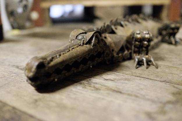 Paul Conrad stellt auch Krokodile her