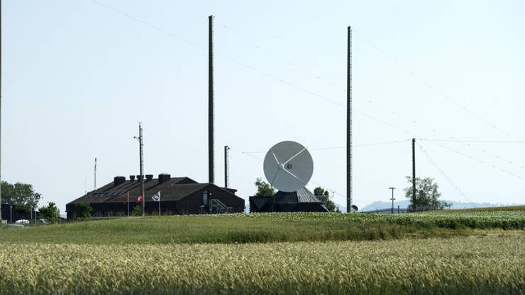 Empfangsstation des Abhörsystems Onyx des NDB in Zimmerwald BE.