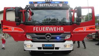 Feuerwehr Bettlach präsentiert ihr neues Tanklöschfahrzeug