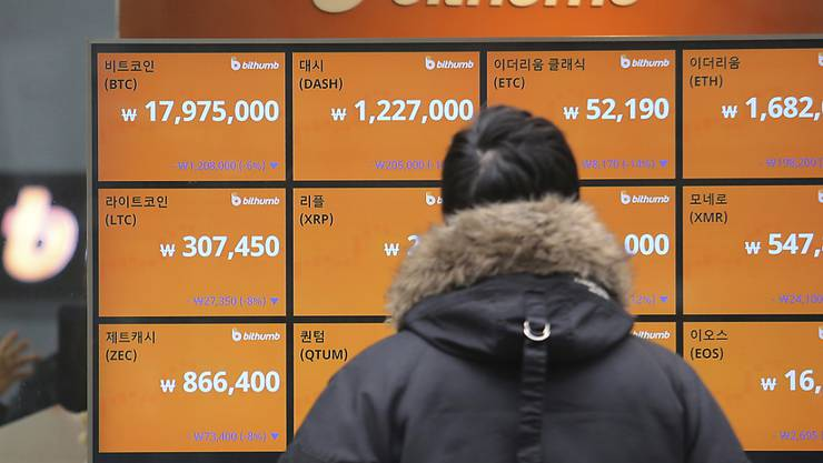 Südkorea will möglicherweise den Handel mit virtuellen Währungen wie Bitcoin verbieten. (Symbolbild)