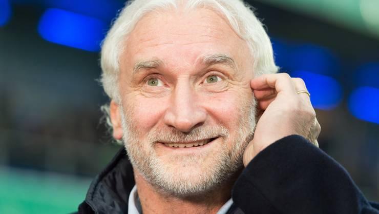 Moment der Verwirrung: Wenn Fussball-Legende Rudi Völler morgens vor dem Spiegel steht, sieht er Albert Einstein. (Archivbild)