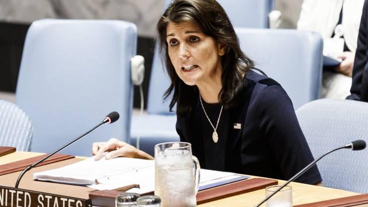 Die Uno-Botschafterin der USA, Nikki Haley, wirft Russland vor, die Uno-Sanktionen gegen Nordkorea zu unterminieren. (Foto: Justin Lane/EPA)