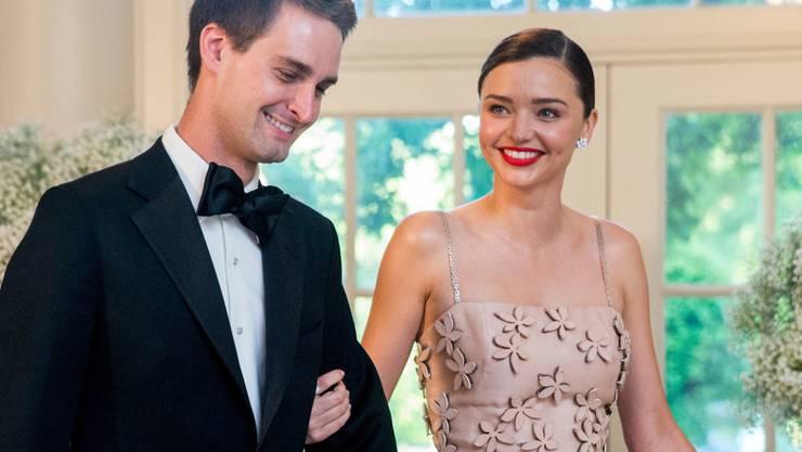 Das australische Model Miranda Kerr und Snapchat-Gründer Evan Spiegel freuen sich über die Geburt ihres zweiten Sohnes Myles. (Archivbild)