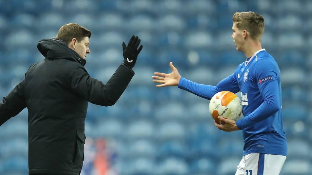 Cédric Itten und die Glasgow Rangers sicherten sich den Gruppensieg