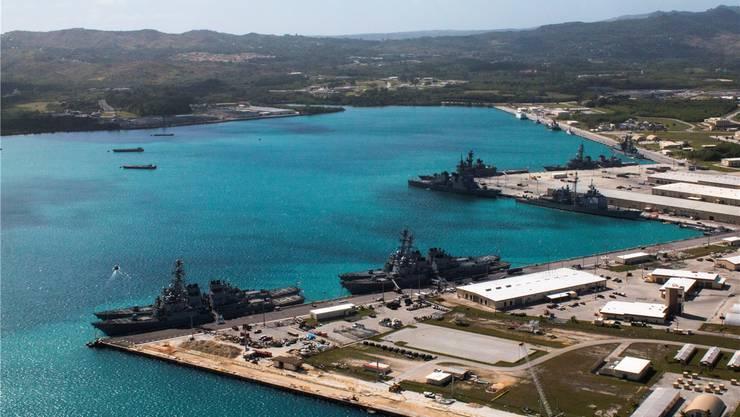 Der amerikanische Marinestützpunkt auf der Pazifikinsel Guam.EPA/Keystone