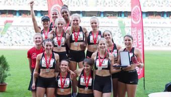 Die Athletinnen konnten am internationalen Wettkampf in Leiria überzeugen.