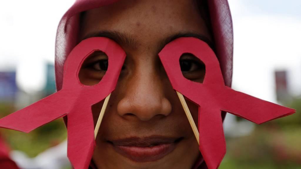 Eine Aids-Aktivistin in Banda Aceh, Indonesien. (EPA/HOTLI SIMANJUNTAK/KEYSTONE)