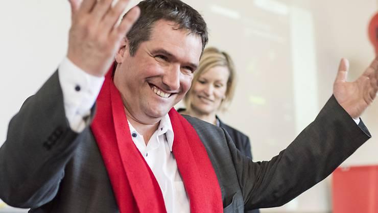 SP-Präsident Christian Levrat ist der Sieger des Tages. Seine Partei hatte gegen die Unternehmenssteuerreform III das Referendum ergriffen.