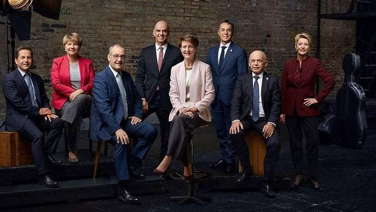 Das offizielle Bundesratsfoto 2020.