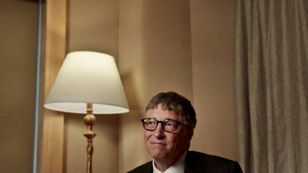 Er ist und bleibt der reichste Mann der Welt: Microsoft-Mitbegründer Bill Gates. (Archiv)
