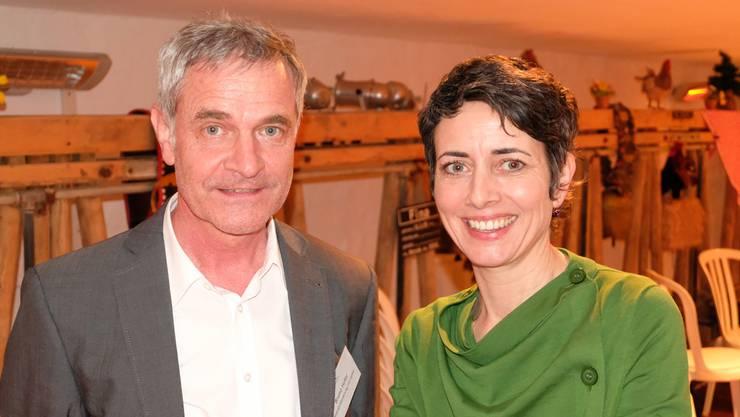 Bruno Hofer, Geschäftsleiter der Standortförderung Limmattal, und Jasmina Ritz, Geschäftsleiterin der Limmatstadt AG. (Archiv)
