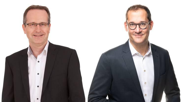 Thomas Wettstein (r), CEO der Avectris wird das Unternehmen Ende 2020 verlassen. Mit Ales Kupsky übernimmt ein erfahrenes Geschäftsleitungsmitglied die Funktion des CEO ad interim.