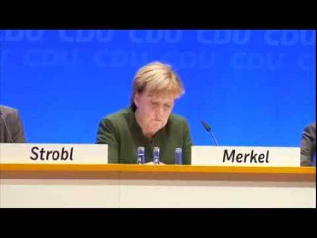 «Frau Bundeskanzlerin, treten Sie zurück»: Die Rücktrittsforderung an der CDU-Regionalkonferenz in Heidelberg.