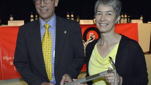SAC-Zentralpräsidentin Jaquet und ihr Vorgänger Frank-Urs Müller