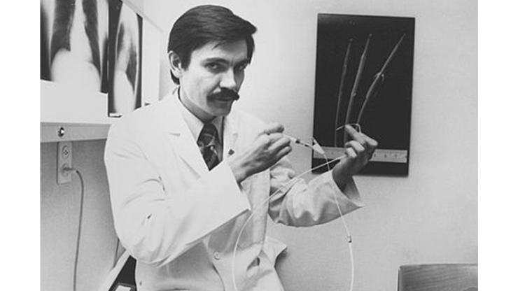 Andreas Grüntzig, Erfinder des Herzkatheters, 1974