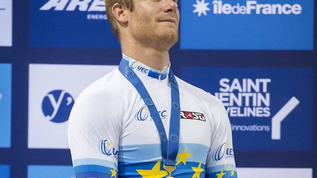 Loïc Perizzolo Loic gewann an den Bahn-Europameisterschaften bei Paris die Goldmedaille im Ausscheidungsfahren