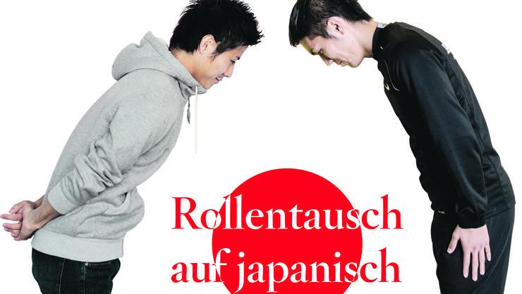 In Japan gilt die Etikette: Der Jüngere verbeugt sich vor dem Älteren.