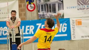 Jörg Ebner konnte nicht nur mit dem Service punkten, auch im Angriff klappte es. Laufenburg-Kaisten ist derzeit nicht zu stoppen in den Playoffs.