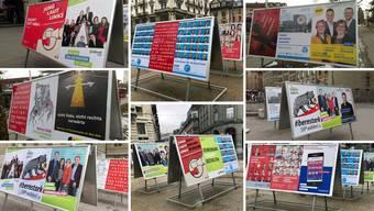 Plakate der Grossratswahl vom 25. März. Twitter