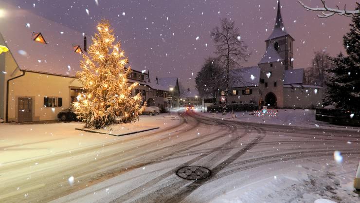Guten Morgen Winter Schneefall Sorgte In Basel Für