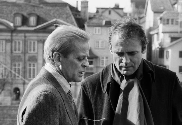 Klaus Kinski (links) besucht Bruno Ganz 1979 in Zürich. Die beiden haben für Werner Herzog in «Nosferatu» gespielt.