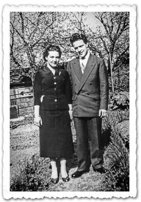 Schon an der Konfirmation ein Paar: René und Sonja Schmid.