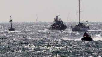 Ein Schiff will Palästinensern Hilfsgütern bringen und wird von der Israelischen Armee abgefangen (Archiv)