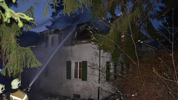 Hausbrand in Oberdorf an der Eimattstrasse.