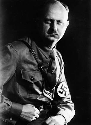 Wilhelm Gustloff als Landesgruppenleiter in der Partieuniform der NSDAP.