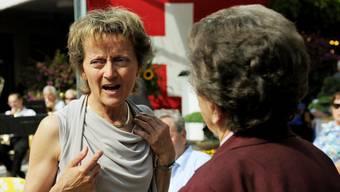 Setzte sich schon als Politikerin stets für die Schwächeren ein: Eveline Widmer-Schlumpf (hier ein Besuch in einem Alters- und Pflegeheim im Jahr 2011). Keystone