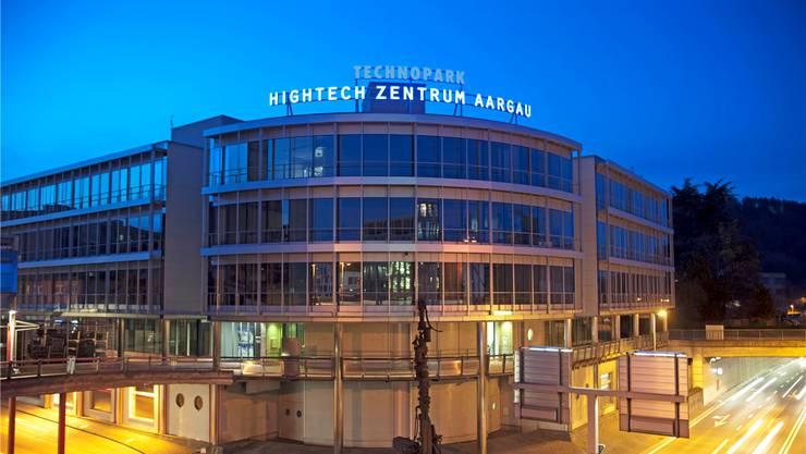 Kernstück des Programms Hightech Aargau: Das Hightech-Zentrum in Brugg, das Unternehmen durch Vernetzung mit Lehre und Forschung zu mehr Innovationen animieren soll. Archiv