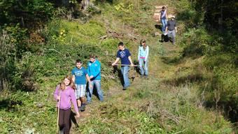 Sechs Klassen der Kreisschule Thal leisten Einsätze im Naturpark Thal.