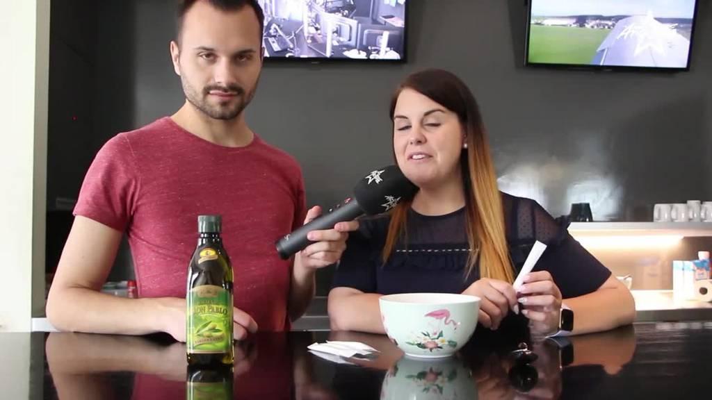 Weiche Hände mit Olivenöl und Zucker