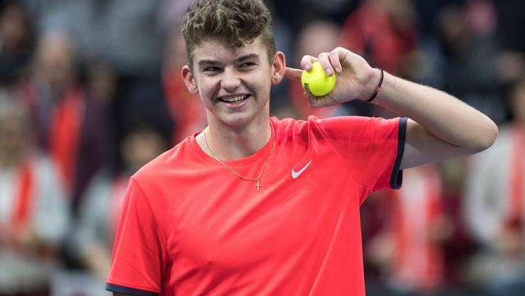 Jérôme ist eines der neuen Gesichter am Schweizer Tennis-Himmel.