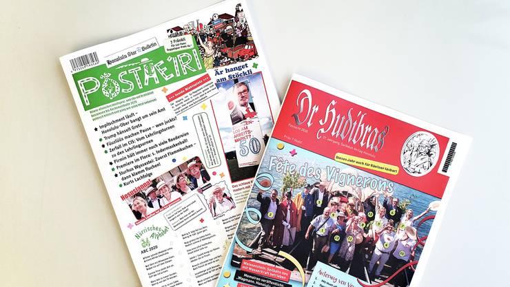 Postheiri und Hudibars sind weitere Fasnachtszeitungen.