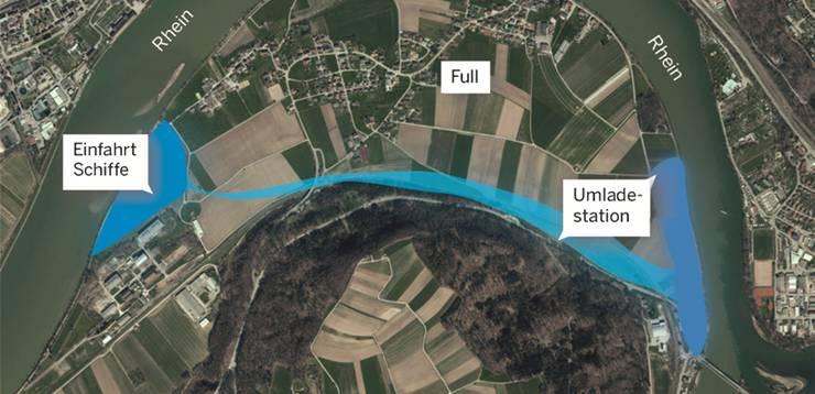 Die 1983 geplante Umladestation im Fullerfeld. Quelle: Agis/ssa