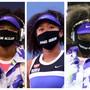 Naomi Osaka erinnert mit Masken an die Opfer von Polizeigewalt: Breonna Taylor, Elijah McClain, Ahmaud Arbery, Trayvon Martin und George Floyd.